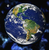 Earth blue planet in space — Stock Photo