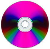 Disco compacto em fundo branco — Fotografia Stock