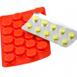 Close-up medicaments pills on white — Stock Photo