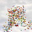 Royalty-Free Stock Photo: Colored balloons on sky to background