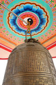 Chinese poem on vintage bell — ストック写真