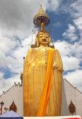 Złoty stojący buddha — Zdjęcie stockowe