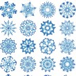 Stock Vector: Beautiful crystal gradient snowflakes