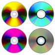 Set of compact disk on white — Stock Photo