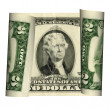 Stock Photo: United States two dollar bill on white