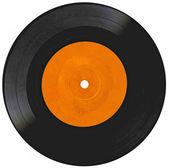 Vintage vinyl record on white — Stock Photo