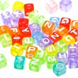 Abstract colourful alphabet blocks - Photo