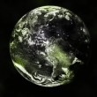 Earth planet in space to background — Stock Photo