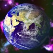 Abstract Earth blue planet in space — Stock Photo