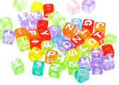 Abstract colourful alphabet blocks — Stock Photo