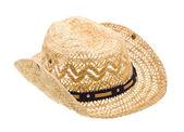 Sombrero stetson, paja de vaquero en blanco — Foto de Stock