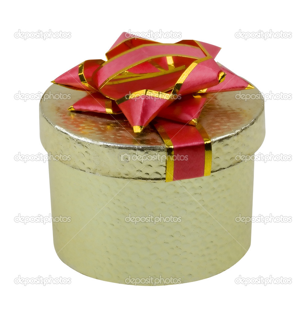 Beautiful present box on white background — Stock Photo #2251215