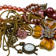 Stock Photo: Abstract composition of vintage jewelry