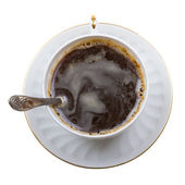Close-up of coffee cup on white — Stock Photo