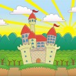 Royalty-Free Stock Vector: Castle in the Forest.
