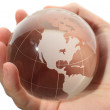 World in hand and global internet — Stock Photo