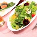 Salad  flowers — Stock Photo #1657217