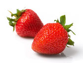 Strawberries isolated over white — Stock Photo