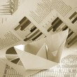 Royalty-Free Stock Photo: Business concept, paper boat