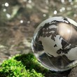 Stock Photo: Water stream, globe, ecology