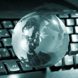 Globe and keyboard — Stock Photo #1663728