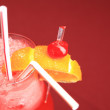 Stock Photo: Red cocktail