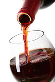 Red wine filling a glass, drink — Stock Photo