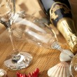 Champagne sparkling on a beach — Stock Photo #1746303