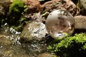 Proud vody, globe, ekologie — Stock fotografie