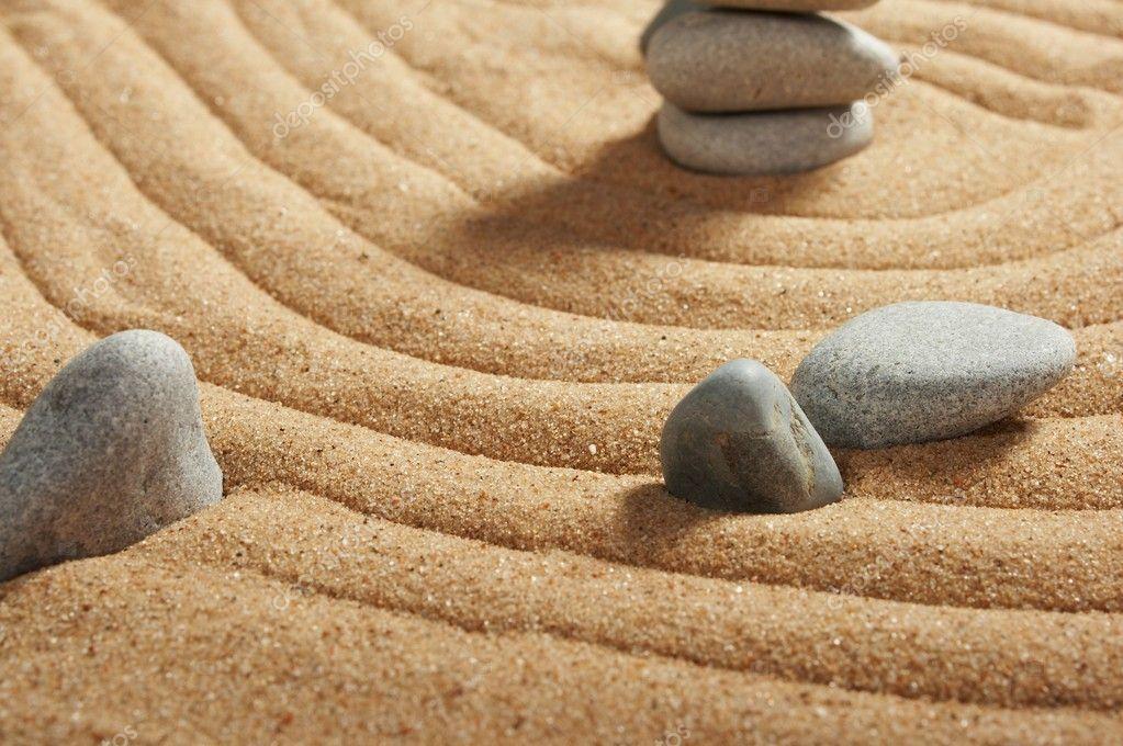 garden of stones zen like stock photo strelok 1745565. Black Bedroom Furniture Sets. Home Design Ideas