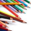 Color pencils on white background — Stock Photo #1756336