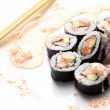 Traditional japanese sushi — Stock Photo #1760954