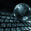 Globe and keyboard — Stock Photo #1761214