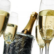 Champagne flutes and ice bucket — Stock Photo #1761394