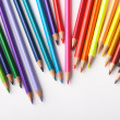 Color pencils on white background — Stock Photo #1765888