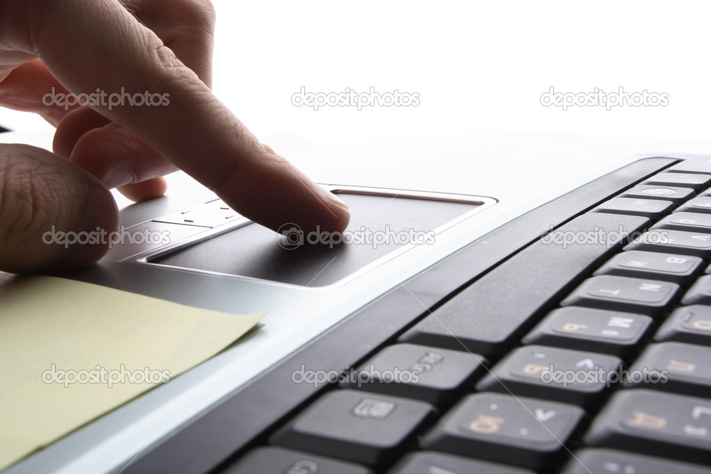 Laptop,  business technology — Stock Photo #1764374