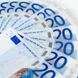 Euro money twenty euros bills — Stock Photo