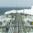 Oil tanker ship on open rough sea — Stock Photo #1698421