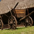 Stock Photo: Old wood cart under barn