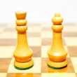 Chess king and queen — Stock Photo