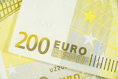 Macro of two hundred euro — Stock Photo
