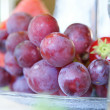 Stock Photo: Closeup pf grape on plate