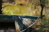 Zmarnowane łódź — Zdjęcie stockowe