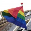 Stock Photo: Gay rainbow flag