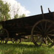Stock Photo: Old wood cart on grass