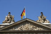 Germany flag on building — Stock Photo