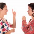 Deaf persons hand demonstrating — Stock Photo