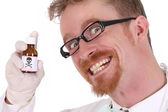 Doctor with poison bottle — Stock Photo