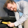 Stock Photo: Banana and exhaust