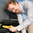 Banana and exhaust - Stock Photo